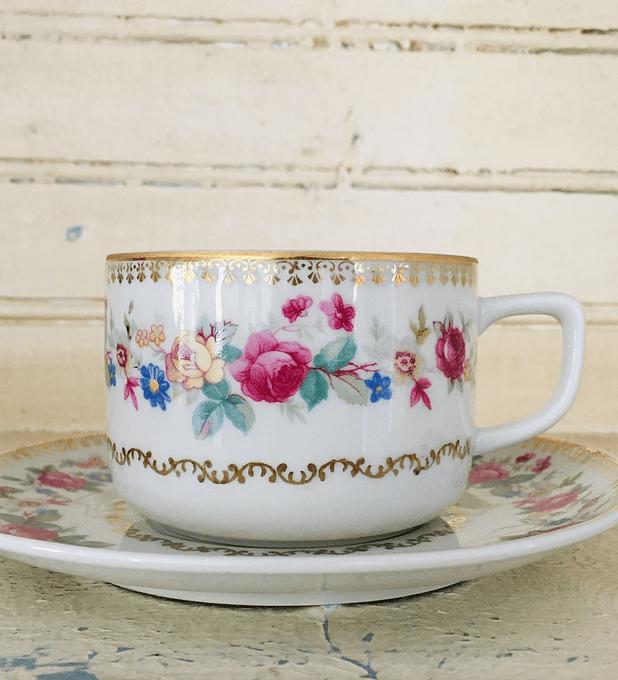Cmielow, Polonia, taza de té, 1940's - 1950's