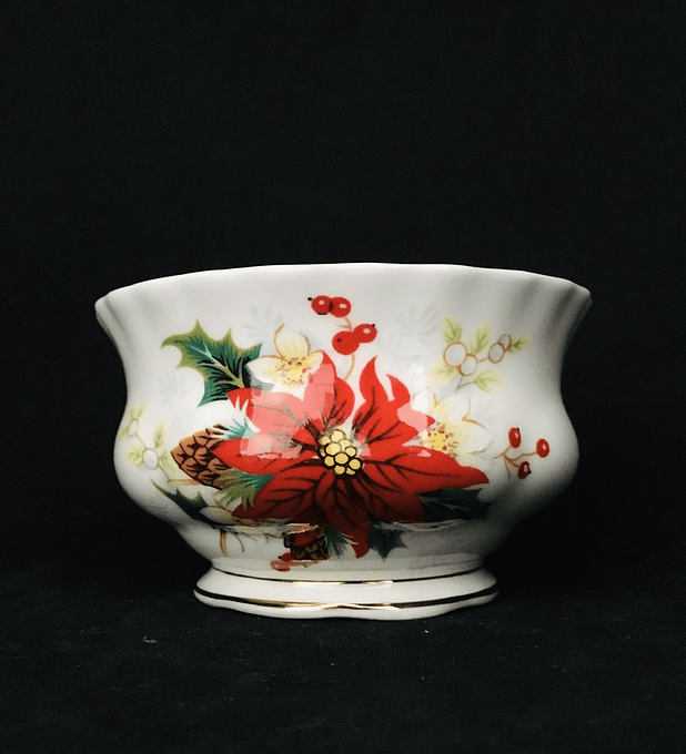 "Royal Albert, Inglaterra, azucarera, ""Poinsettia"""