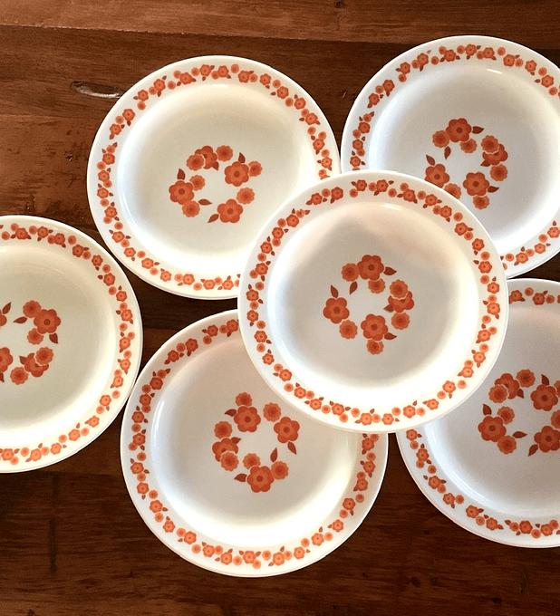 Arcopal , Francia, platos de torta/ pan