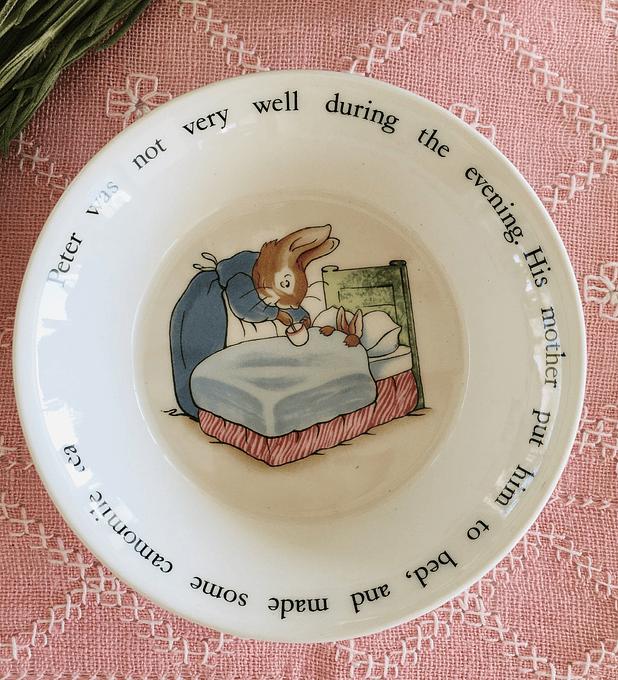 Wedgwood, Inglaterra, pocillo de las aventuras de Peter Rabbit