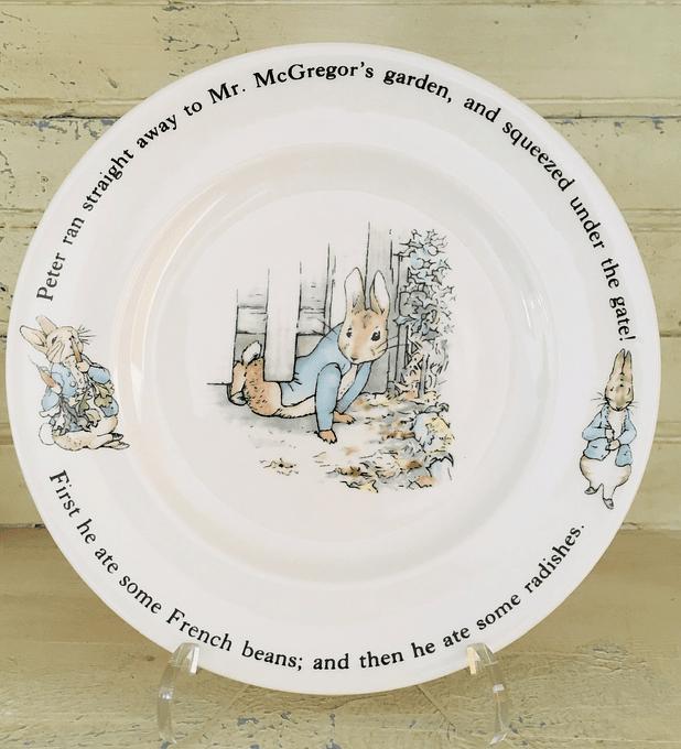 Wedgwood, Inglaterra, plato de colección Peter Rabbit, 20 cm, '90