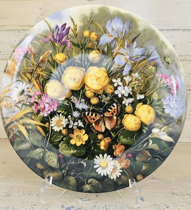 Fürstenberg, Alemania, Serie Bellez as Salvajes, 1989, ' Am Teich' (Al lado  del estanque), 19,5 cm, con certificado