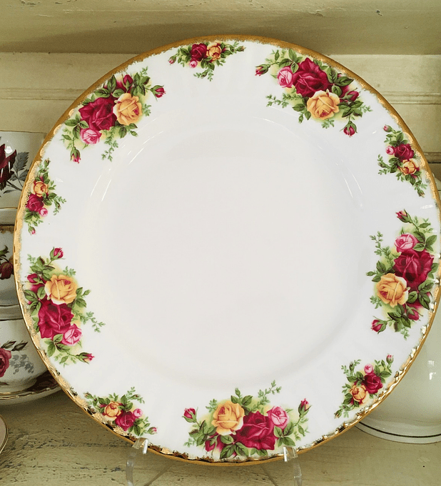 Royal Albert, Inglaterra, 'Old Country Roses', tortero, 26 cm, desde 1962