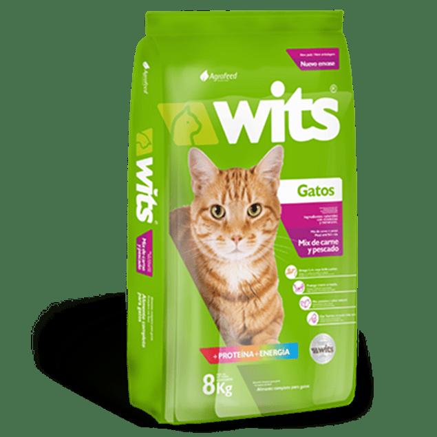 Wits Gato Mix Carne-Pescado 8 - 25 kg. GATOLOVER 10% DCTO!!!