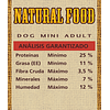 Natural Food Dog Mini Adult 10k