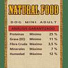 Natural Food Dog Mini Adult 10 kilos
