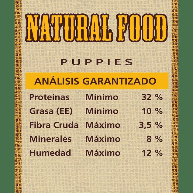 Natural Food Dog Puppies 10 kilos