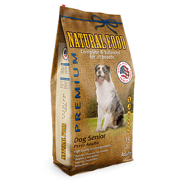 Natural Food Dog Senior 15 kilos