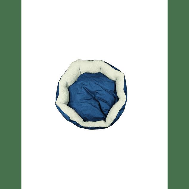 HEY! Cama diseño azul Liso Large