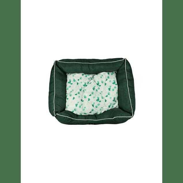 HEY! Cama Verde diseño Liso Oscuro Small