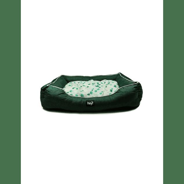 HEY! Cama Verde diseño Liso Oscuro Medium