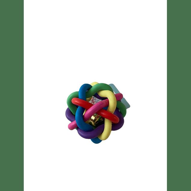 Pelota Multicolor de Goma con Campanilla