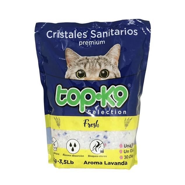 Arena Sanitaria para Gato Top K9 Cristal 5 x 1,6 kilos