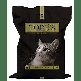 Todds Gato 9 kilos (3 bolsas de 3 kilos)