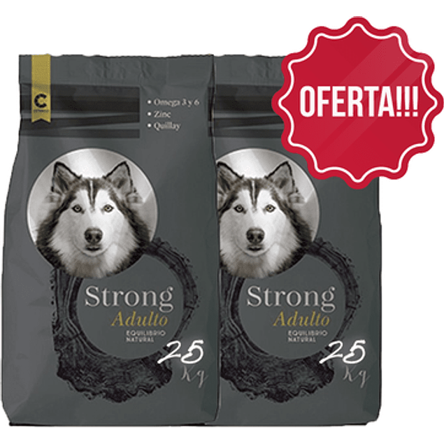 Súper Oferta!!! 2 Strong Perro Adulto 25 kilos