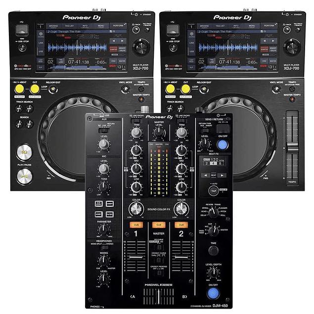PIONEER XDJ 700 + PIONEER DJM 450 Cabina Completa