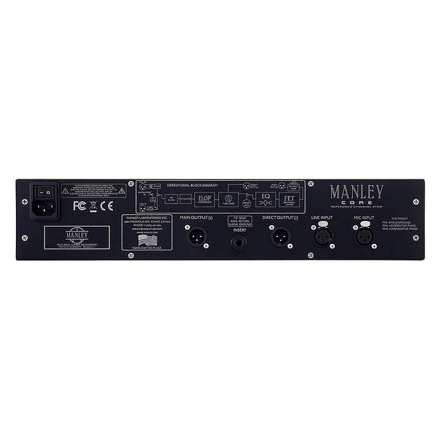 MANLEY CORE REFERENCE TUBE CHANNEL STRIP Preamplificador