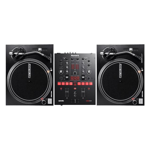 RELOOP 2000 MK2 2 PIEZAS + MIXER NUMARK SCRATCH (De Regalo Serato Vynil Time Code) Cabina Completa