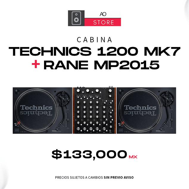 TECHNICS 1200 MK7 + RANE MP 2015 Cabina Completa