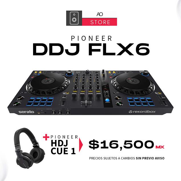 PIONEER DDJ FLX6 Controlador + PIONEER HDJ CUE 1