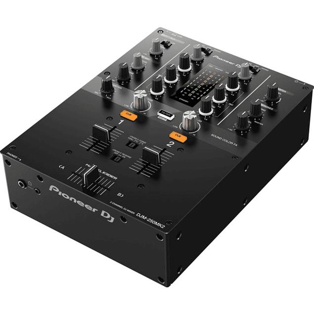 PIONEER PLX 500 W + DJM 250 MK2 Cabina Completa