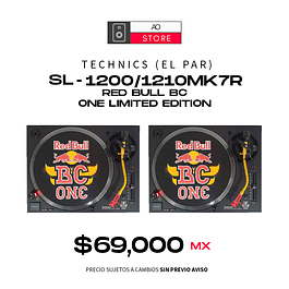 TECHNICS SL 1200 1210MK7R Red Bull BC One Limited Edition El Par