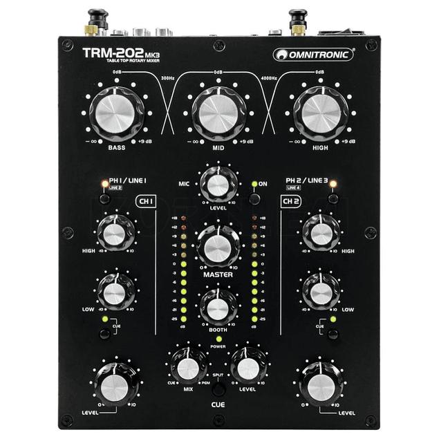 OMNITRONIC TRM 202 MK3 Mezcladora Para Dj