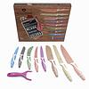 Set de cuchillos de 9 piezas con recubrimiento antiadherente