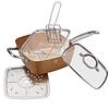 Sartén cuadrado color cobre 5 en 1 - Colección Le Chef