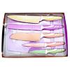 Set de cuchillos de 6 piezas con recubrimiento anti adherente y tabla de cortar