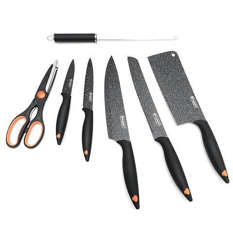 Set de cuchillos de 8 piezas con atril