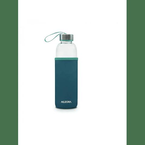 Set de Botella + 2 herméticos de vidrio templado