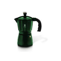 Cafetera verde con capacidad de 6 tazas