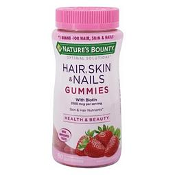 Gomitas para el cabello, piel y uñas Frutilla