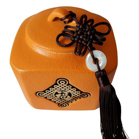 Recipiente de almacenaje naranjo