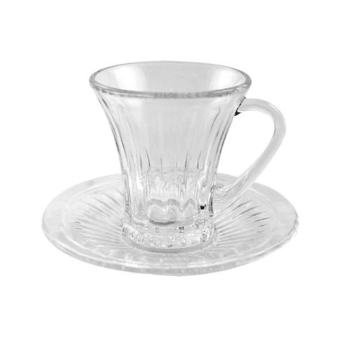 6 tazas de café/te transparentes