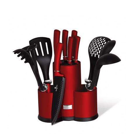 Set de cuchillos y utensilios 12 piezas