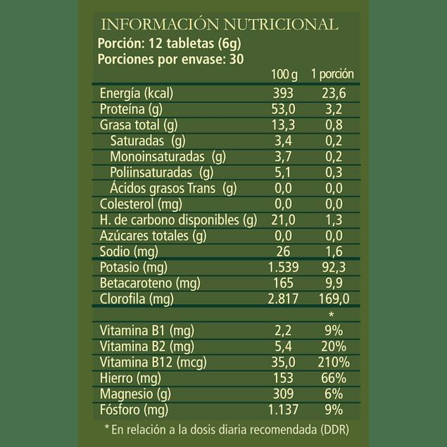 Chlorella Power 360 tabletas 100% Orgánicas