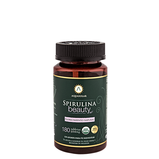 Spirulina Beauty 180 tabletas 100% Orgánicas