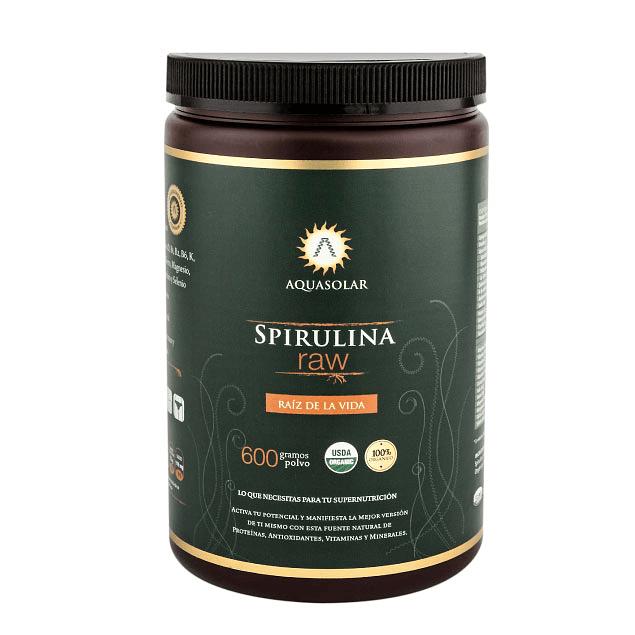 Spirulina Raw 600g polvo 100% Orgánico