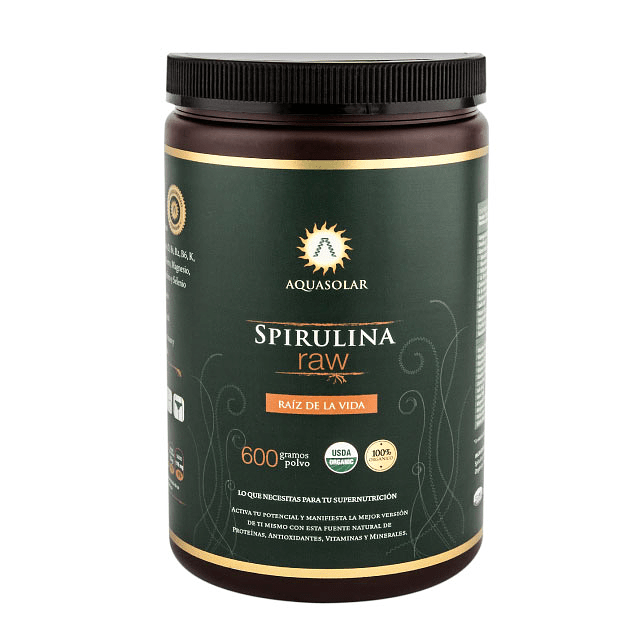 Spirulina Raw 600g 100% Orgánico