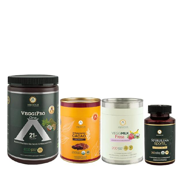 PACK SUMMER FIT <br><sub>veggiPro One- Amazonic cacao<br>Veggimilk F200-Sport</sample>