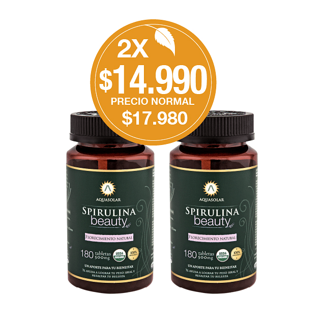 PACK 2X Spirulina Beauty