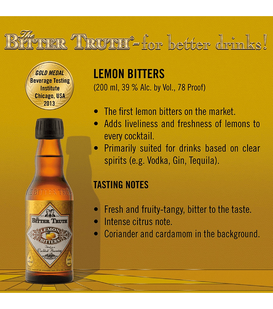The Bitter Truth Lemon Bitters 39º
