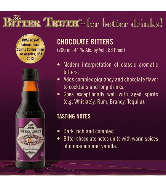 The Bitter Truth Chocolate Bitters 44º