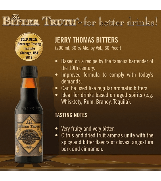 The Bitter Truth Jerry Thomas Bitter 30º
