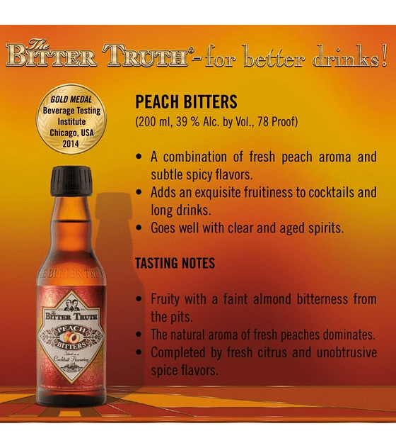 The Bitter Truth Peach Bitters 44º