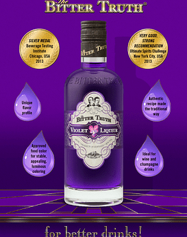 The Bitter Truth Violet Liqueur 22º