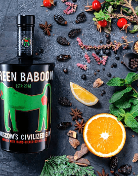 Green Baboon Moscow's Civilized Gin