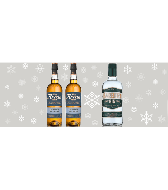 Navidad con The Arran Malt Whisky & Barber's Gin